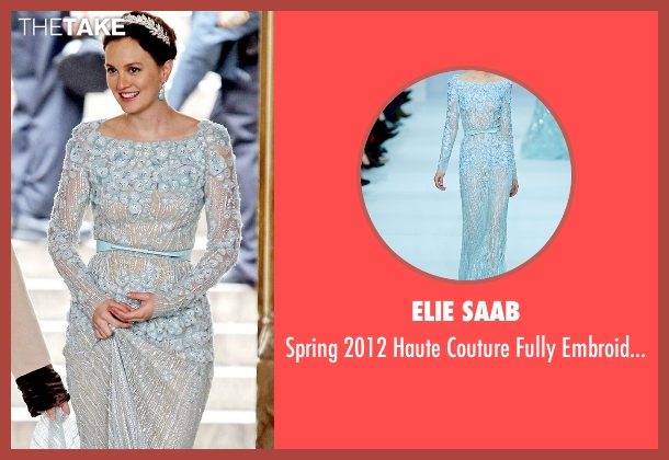 Elie Saab  blue dress from Gossip Girl seen with Blair Waldorf (Leighton Meester)