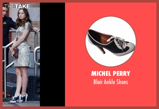 Michel Perry shoes from Gossip Girl seen with Blair Waldorf (Leighton Meester)