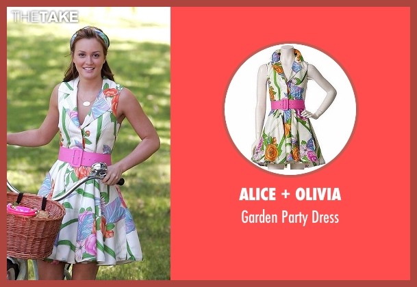 Alice + Olivia white dress from Gossip Girl seen with Blair Waldorf (Leighton Meester)