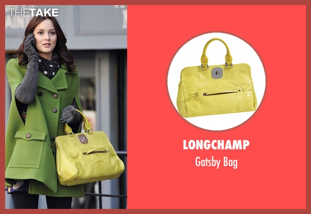 Longchamp  yellow bag from Gossip Girl seen with Blair Waldorf (Leighton Meester)