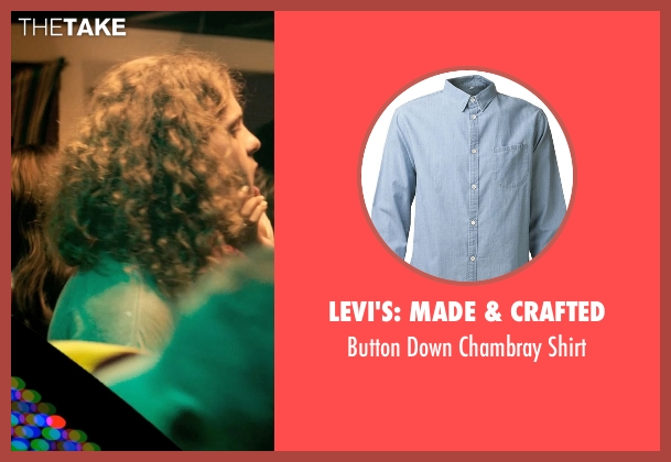 Levi's: Made & Crafted blue shirt from Dope seen with Blake Anderson (Will)