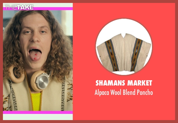 Shamans Market poncho from Dope seen with Blake Anderson (Will)