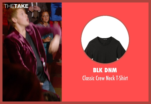 BLK DNM black t-shirt from Pitch Perfect 2 seen with Blake Burt (Treblemaker 4)