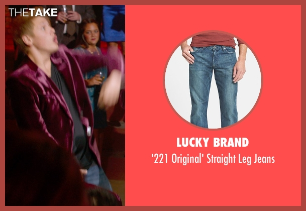 Lucky Brand blue jeans from Pitch Perfect 2 seen with Blake Burt (Treblemaker 4)