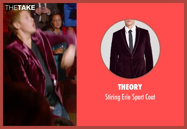 Theory purple coat from Pitch Perfect 2 seen with Blake Burt (Treblemaker 4)