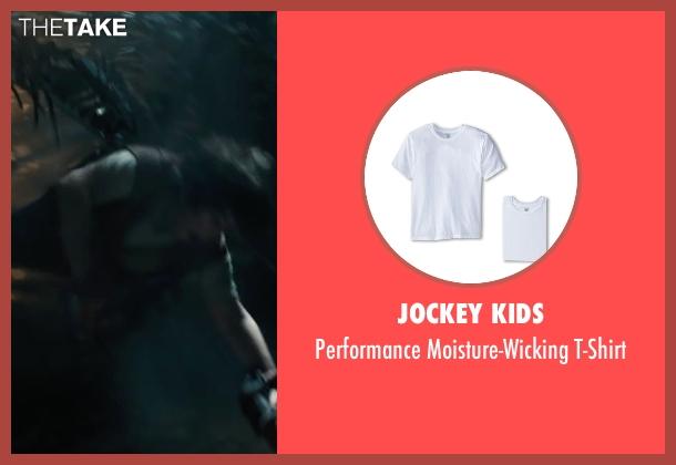 Jockey Kids white t-shirt from Maze Runner: The Scorch Trials seen with Blake Cooper (Chuck)