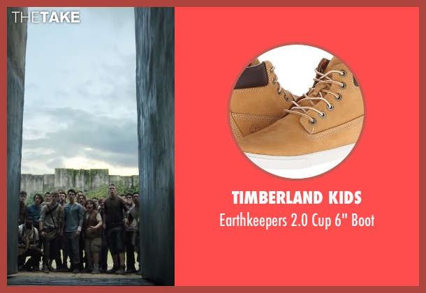 Timberland Kids beige boot from The Maze Runner seen with Blake Cooper (Chuck)