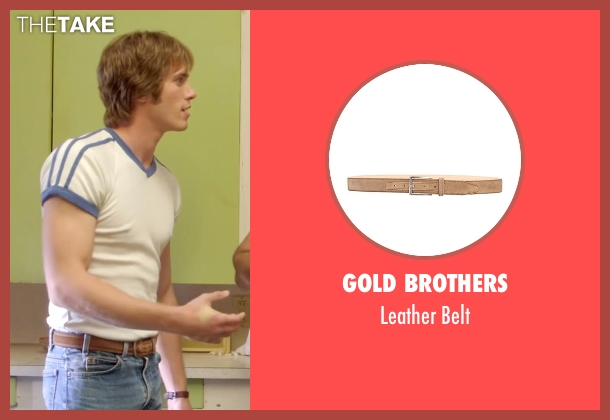 Gold Brothers beige belt from Everybody Wants Some seen with Blake Jenner (Jake)