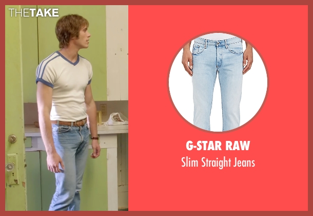 G-Star Raw blue jeans from Everybody Wants Some seen with Blake Jenner (Jake)