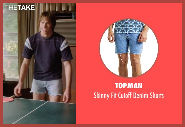 Topman blue shorts from Everybody Wants Some seen with Blake Jenner (Jake)