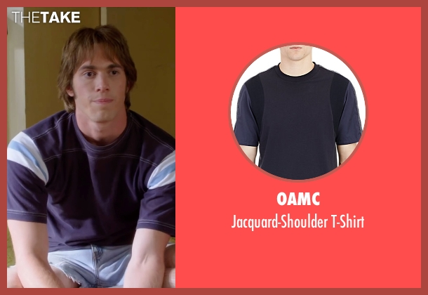 Oamc blue t-shirt from Everybody Wants Some seen with Blake Jenner (Jake)