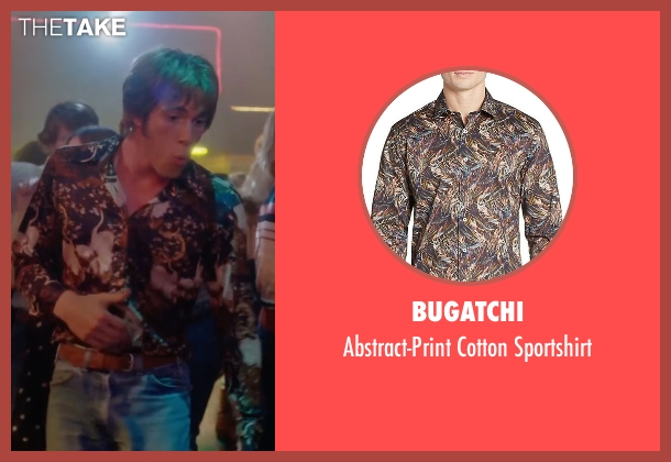 Bugatchi brown sportshirt from Everybody Wants Some seen with Blake Jenner (Jake)