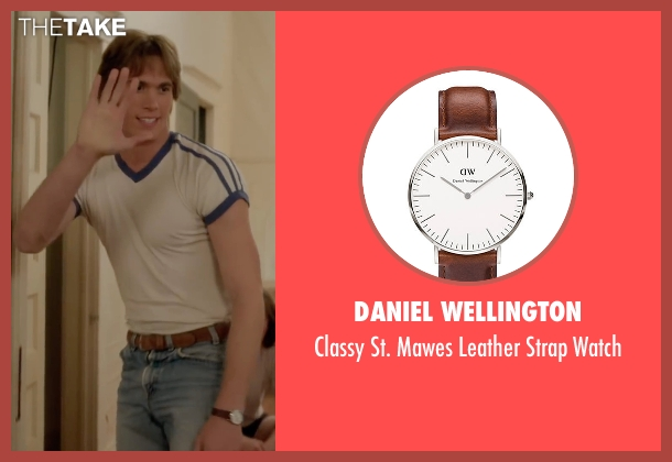 Daniel Wellington brown watch from Everybody Wants Some seen with Blake Jenner (Jake)