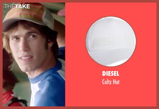 Diesel white hat from Everybody Wants Some seen with Blake Jenner (Unknown Character)