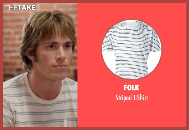 Folk white t-shirt from Everybody Wants Some seen with Blake Jenner (Jake)