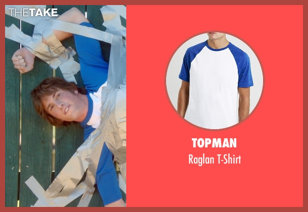 Topman white t-shirt from Everybody Wants Some seen with Blake Jenner (Jake)
