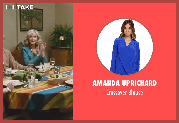 Amanda Uprichard blue blouse from Little Fockers seen with Blythe Danner (Dina Byrnes)