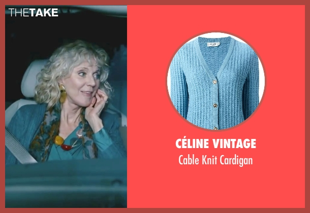 Céline Vintage blue cardigan from Little Fockers seen with Blythe Danner (Dina Byrnes)