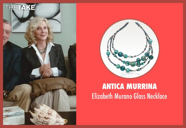 Antica Murrina green necklace from Little Fockers seen with Blythe Danner (Dina Byrnes)