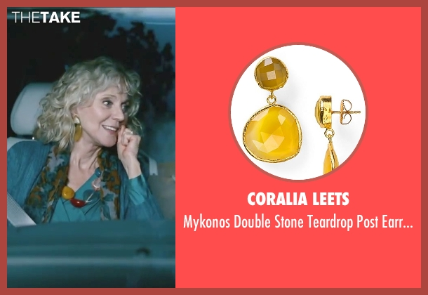 Coralia Leets yellow earrings from Little Fockers seen with Blythe Danner (Dina Byrnes)