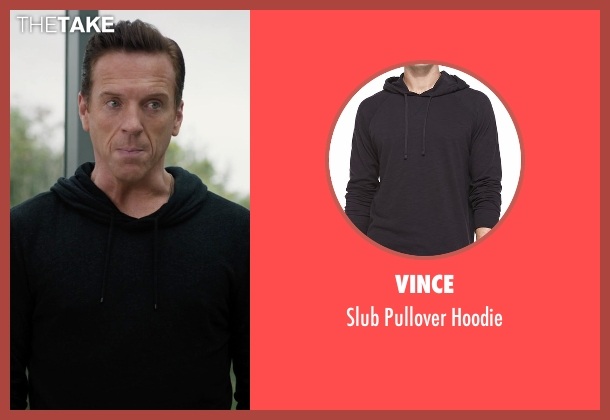 Vince black hoodie from Billions seen with Bobby Axelrod (Damian Lewis)