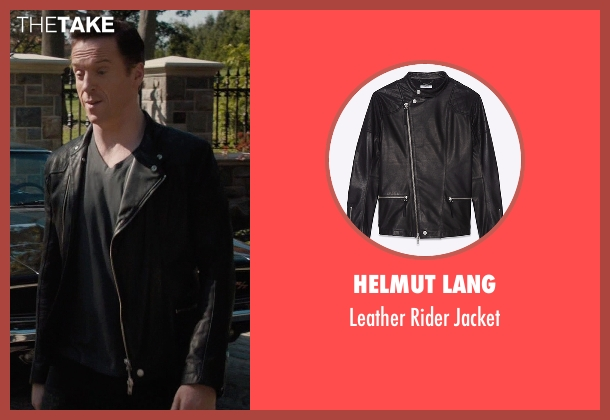 Helmut Lang black jacket from Billions seen with Bobby Axelrod (Damian Lewis)