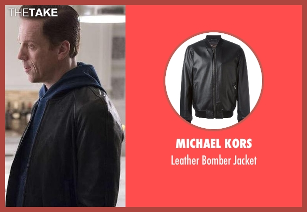 Michael Kors black jacket from Billions seen with Bobby Axelrod (Damian Lewis)