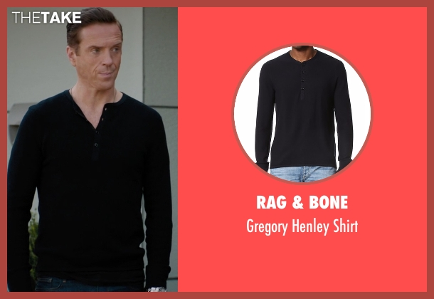 Rag & Bone black shirt from Billions seen with Bobby Axelrod (Damian Lewis)
