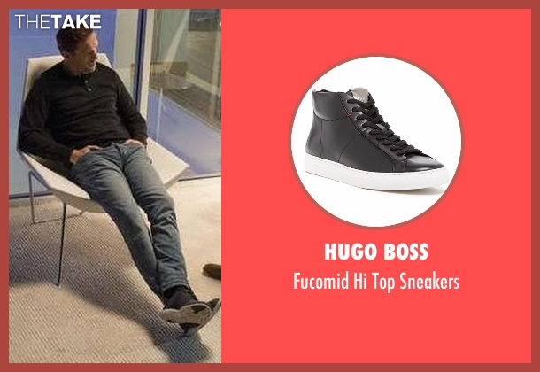 Hugo Boss black sneakers from Billions seen with Bobby Axelrod (Damian Lewis)