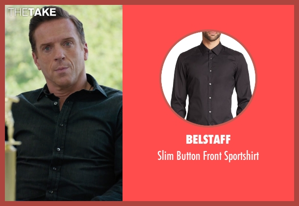 Belstaff  black sportshirt from Billions seen with Bobby Axelrod (Damian Lewis)