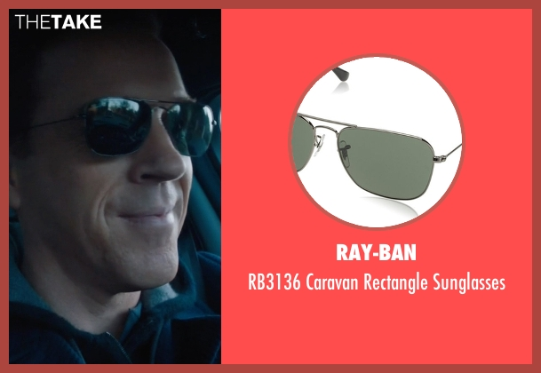 Ray-Ban black sunglasses from Billions seen with Bobby Axelrod (Damian Lewis)