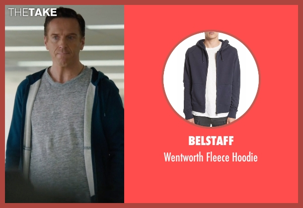 Belstaff blue hoodie from Billions seen with Bobby Axelrod (Damian Lewis)