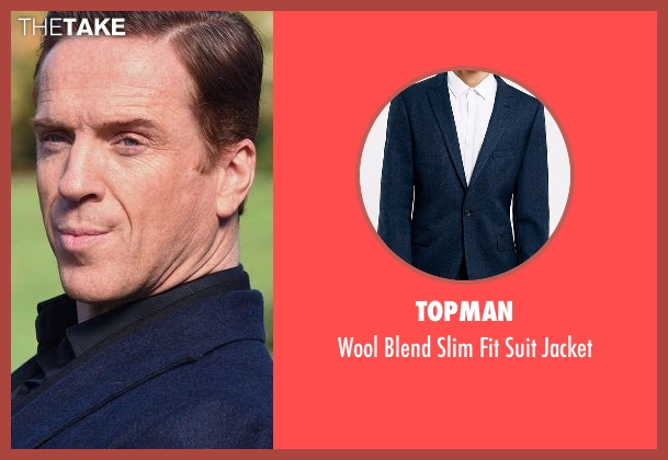 Topman blue jacket from Billions seen with Bobby Axelrod (Damian Lewis)