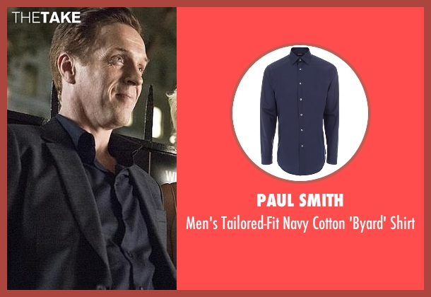 Paul Smith blue shirt from Billions seen with Bobby Axelrod (Damian Lewis)