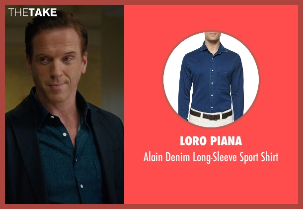 Loro Piana blue shirt from Billions seen with Bobby Axelrod (Damian Lewis)