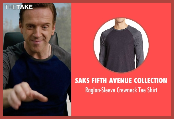 Saks Fifth Avenue Collection blue shirt from Billions seen with Bobby Axelrod (Damian Lewis)