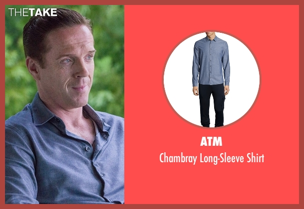 ATM blue shirt from Billions seen with Bobby Axelrod (Damian Lewis)