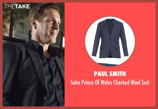 Paul Smith  blue suit from Billions seen with Bobby Axelrod (Damian Lewis)