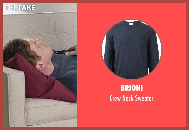 Brioni blue sweater from Billions seen with Bobby Axelrod (Damian Lewis)
