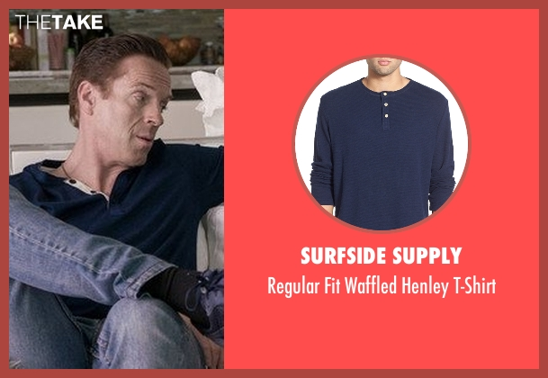 Surfside Supply blue t-shirt from Billions seen with Bobby Axelrod (Damian Lewis)