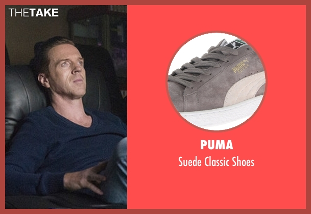Puma gray shoes from Billions seen with Bobby Axelrod (Damian Lewis)