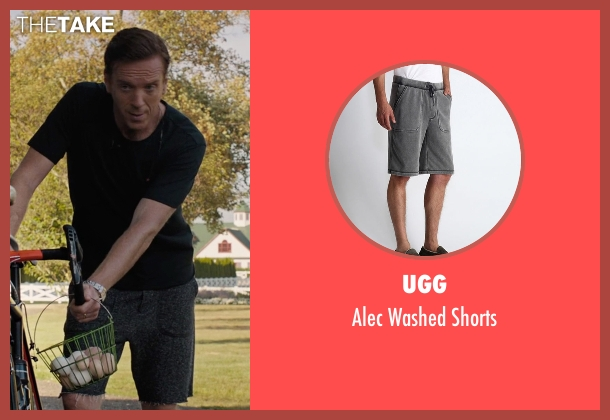 UGG gray shorts from Billions seen with Bobby Axelrod (Damian Lewis)