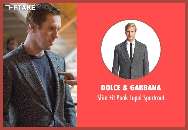 Dolce & Gabbana gray sportcoat from Billions seen with Bobby Axelrod (Damian Lewis)