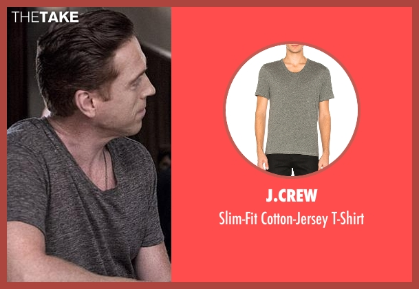 J.Crew gray t-shirt from Billions seen with Bobby Axelrod (Damian Lewis)