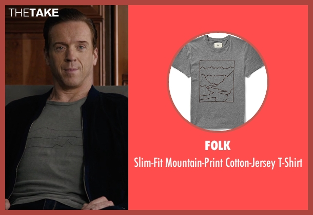 Folk  gray t-shirt from Billions seen with Bobby Axelrod (Damian Lewis)
