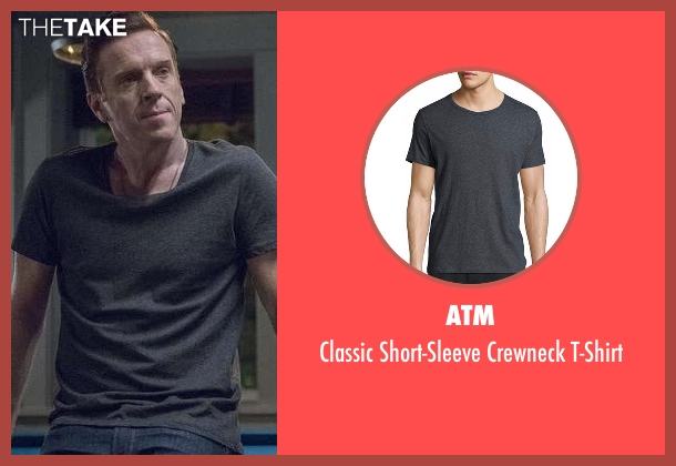 ATM gray t-shirt from Billions seen with Bobby Axelrod (Damian Lewis)