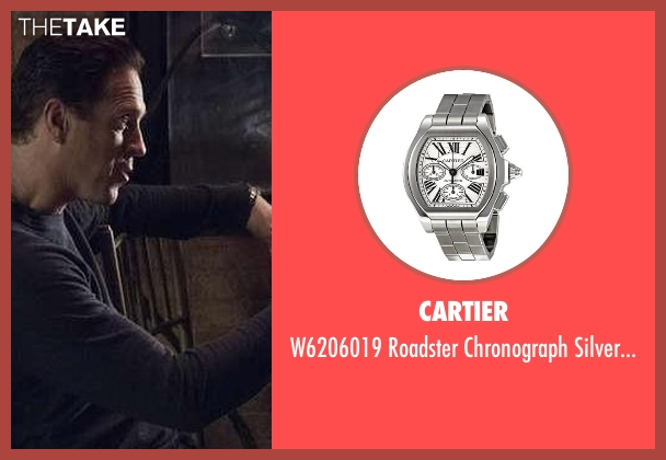 Cartier silver watch from Billions seen with Bobby Axelrod (Damian Lewis)