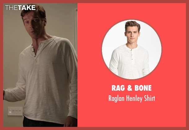Rag & Bone  white shirt from Billions seen with Bobby Axelrod (Damian Lewis)
