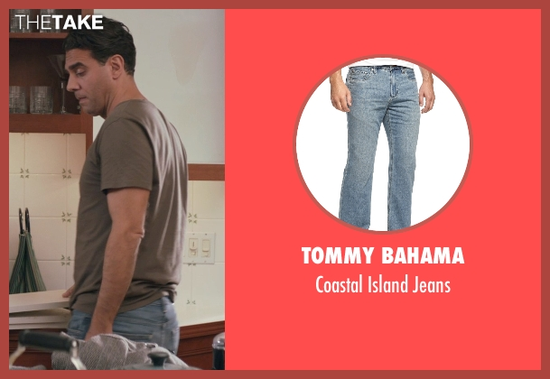 Tommy Bahama blue jeans from Adult Beginners seen with Bobby Cannavale (Danny)