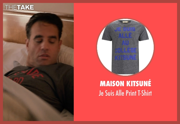 Maison Kitsuné gray t-shirt from Adult Beginners seen with Bobby Cannavale (Danny)